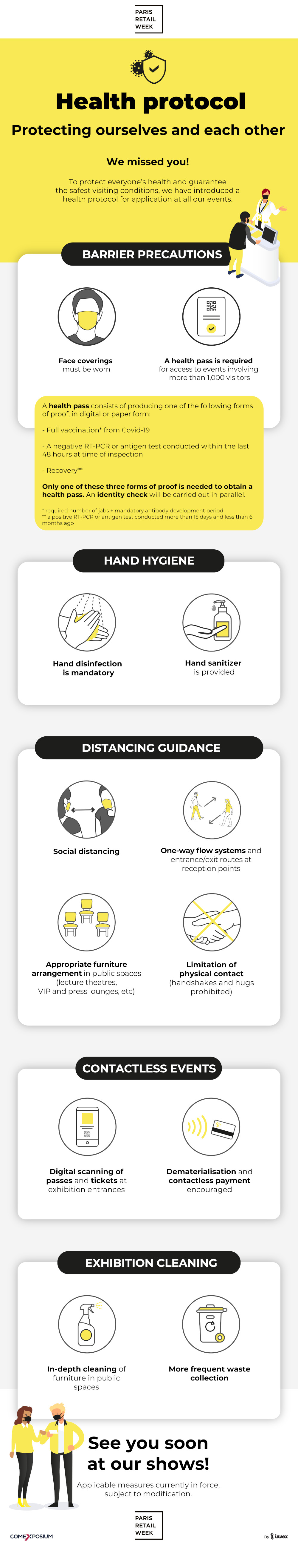 Infographic health protocol Paris Retail Week
