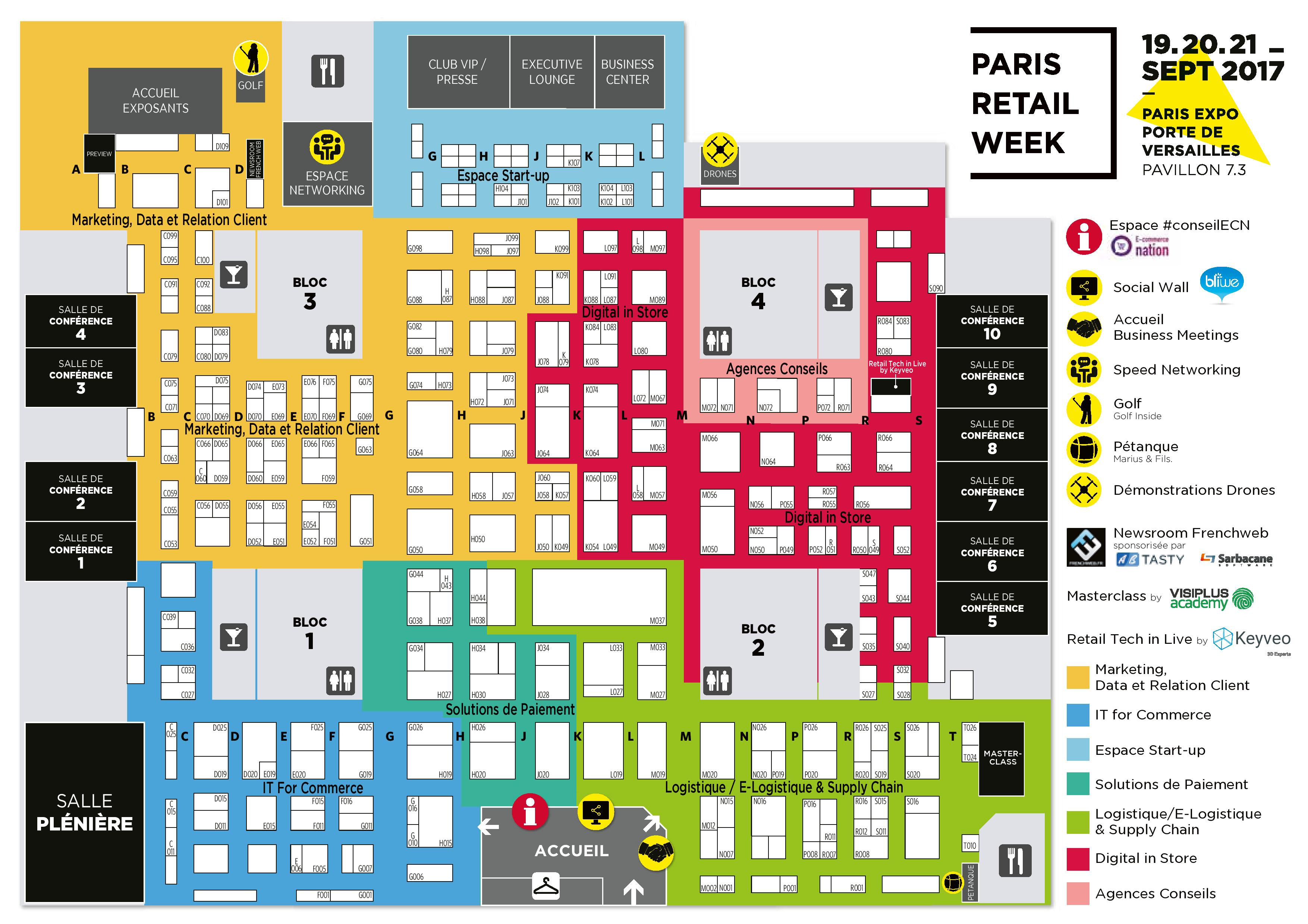 Paris Retail Week 2017 Floor Plan